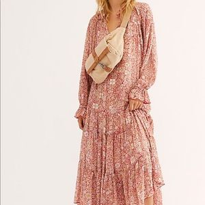 Free people feeling groovy printed tiered maxi
